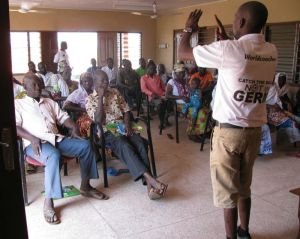 Raising awareness about communities' rights to basic services and who should provide those services