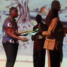 presenting the award