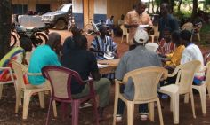 Consultaitions with farmers about yam farming and climate change impacts