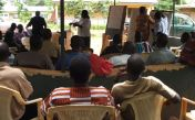 Awareness raising with farmers about yam farming, forest loss and climate change impacts