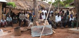 Consultations  with farmers about yam farming and climate change impacts