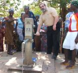 Water borehole and pump donated by Polish Foreign Aid