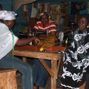 Visiting seamstress trainees, Yendi