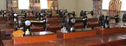 Sewing machines at the Youth training Centre in Yendi