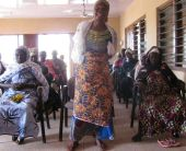 Women sharing her opinions on water and sanitation service provision