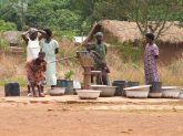 Women collecting water, Sibi Hilltop, norther Ghana