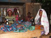 Women being trained as seamstresses